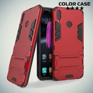 Hybrid Armor Ударопрочный чехол для Huawei Honor 8X с подставкой - Красный