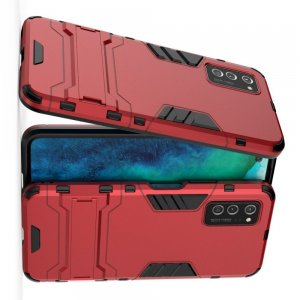 Hybrid Armor Ударопрочный чехол для Huawei Honor View 30 / View 30 Pro с подставкой - Красный