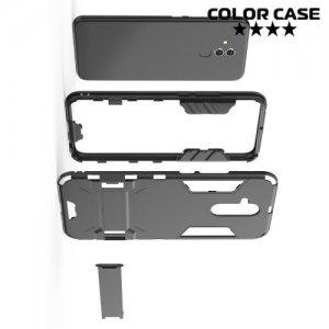 Hybrid Armor Ударопрочный чехол для Huawei Mate 20 lite с подставкой - Черный