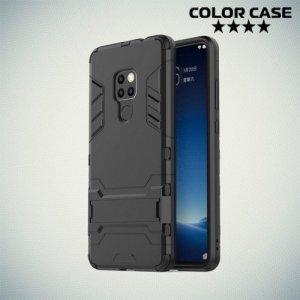 Hybrid Armor Ударопрочный чехол для Huawei Mate 20 с подставкой - Черный