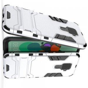 Hybrid Armor Ударопрочный чехол для Huawei Mate 30 Lite с подставкой - Белый