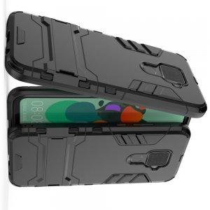 Hybrid Armor Ударопрочный чехол для Huawei Mate 30 Lite с подставкой - Черный