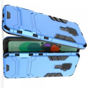Hybrid Armor Ударопрочный чехол для Huawei Mate 30 Lite с подставкой - Голубой