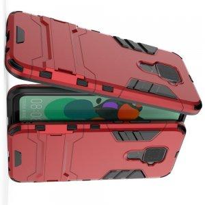 Hybrid Armor Ударопрочный чехол для Huawei Mate 30 Lite с подставкой - Красный