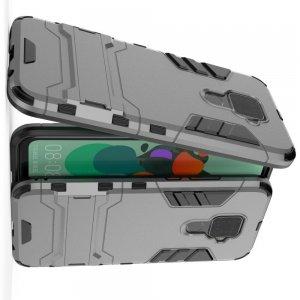 Hybrid Armor Ударопрочный чехол для Huawei Mate 30 Lite с подставкой - Серый