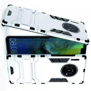 Hybrid Armor Ударопрочный чехол для Huawei Mate 30 Pro с подставкой - Белый