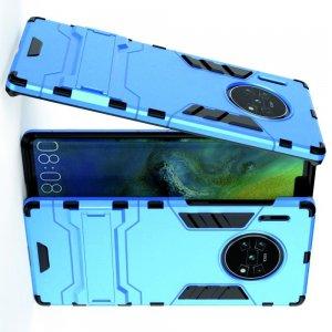 Hybrid Armor Ударопрочный чехол для Huawei Mate 30 Pro с подставкой - Голубой