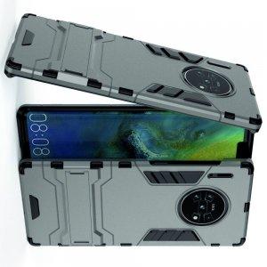Hybrid Armor Ударопрочный чехол для Huawei Mate 30 Pro с подставкой - Серый