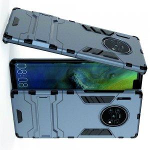 Hybrid Armor Ударопрочный чехол для Huawei Mate 30 Pro с подставкой - Синий