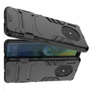 Hybrid Armor Ударопрочный чехол для Huawei Mate 30 с подставкой - Черный