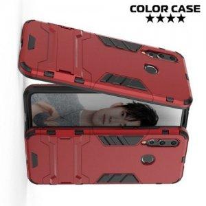 Hybrid Armor Ударопрочный чехол для Huawei nova 4 с подставкой - Красный