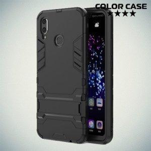 Hybrid Armor Ударопрочный чехол для Huawei P smart+ / Nova 3i с подставкой - Черный