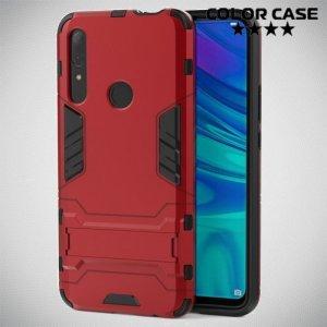 Hybrid Armor Ударопрочный чехол для Huawei P Smart Z с подставкой - Красный