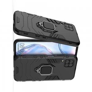 Hybrid Armor Ударопрочный чехол для Huawei P40 Lite с подставкой - Черный