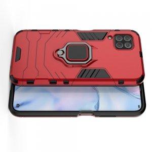 Hybrid Armor Ударопрочный чехол для Huawei P40 Lite с подставкой - Красный