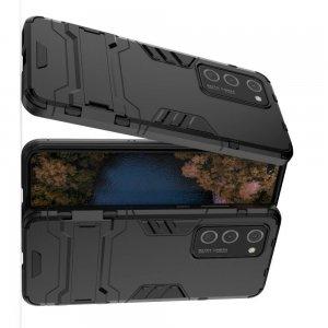 Hybrid Armor Ударопрочный чехол для Huawei P40 Pro с подставкой - Черный