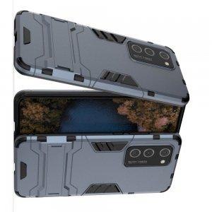 Hybrid Armor Ударопрочный чехол для Huawei P40 Pro с подставкой - Синий
