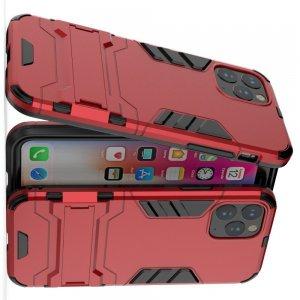 Hybrid Armor Ударопрочный чехол для iPhone 11 Pro с подставкой - Красный