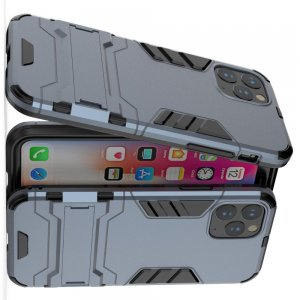Hybrid Armor Ударопрочный чехол для iPhone 11 Pro с подставкой - Синий