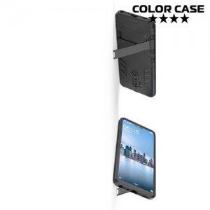 Hybrid Armor Ударопрочный чехол для LG G7 ThinQ с подставкой - Черный