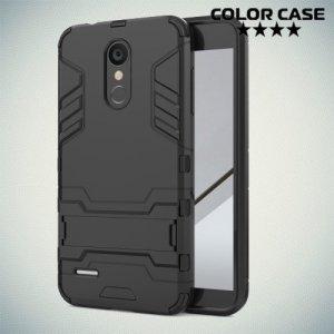 Hybrid Armor Ударопрочный чехол для LG K8 (2018) / LG K9 с подставкой - Черный