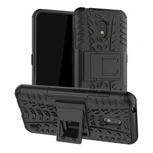 Hybrid Armor Ударопрочный чехол для Nokia 2.2 с подставкой - Черный