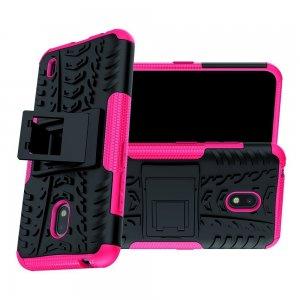 Hybrid Armor Ударопрочный чехол для Nokia 2.2 с подставкой - Розовый