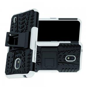Hybrid Armor Ударопрочный чехол для Nokia 2.2 с подставкой - Серый
