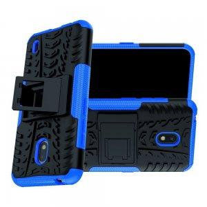 Hybrid Armor Ударопрочный чехол для Nokia 2.2 с подставкой - Синий