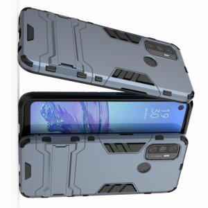 Hybrid Armor Ударопрочный чехол для Oppo A53 (2020) с подставкой - Синий