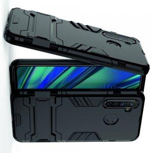Hybrid Armor Ударопрочный чехол для OPPO Realme 5 Pro с подставкой - Черный
