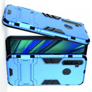 Hybrid Armor Ударопрочный чехол для OPPO Realme 5 Pro с подставкой - Голубой