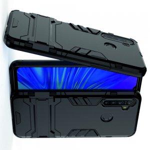 Hybrid Armor Ударопрочный чехол для OPPO Realme 5 с подставкой - Черный