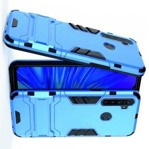 Hybrid Armor Ударопрочный чехол для OPPO Realme 5 с подставкой - Голубой