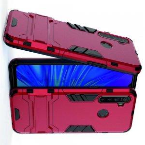 Hybrid Armor Ударопрочный чехол для OPPO Realme 5 с подставкой - Красный