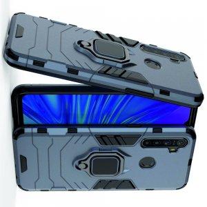 Hybrid Armor Ударопрочный чехол для OPPO Realme 5 с подставкой - Синий