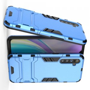 Hybrid Armor Ударопрочный чехол для OPPO Realme XT с подставкой - Голубой