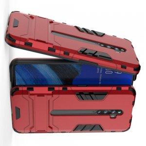 Hybrid Armor Ударопрочный чехол для OPPO Reno 2 Z с подставкой - Красный