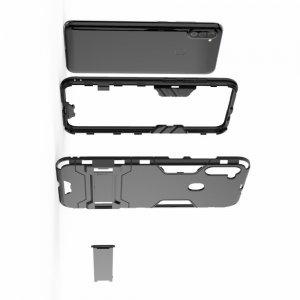 Hybrid Armor Ударопрочный чехол для Samsung Galaxy A11 с подставкой - Черный