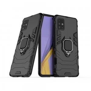 Hybrid Armor Ring Ударопрочный чехол для Samsung Galaxy A51 с подставкой - Черный