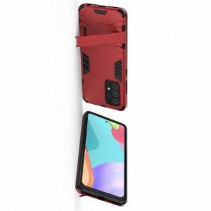 Hybrid Armor Ударопрочный чехол для Samsung Galaxy A52 с подставкой - Красный
