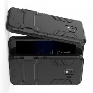 Hybrid Armor Ударопрочный чехол для Samsung Galaxy J2 Core (2020) с подставкой - Черный