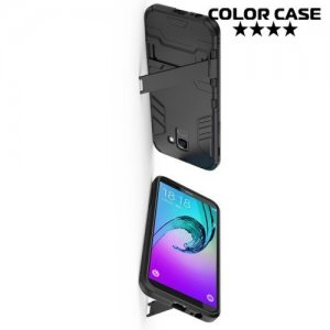 Hybrid Armor Ударопрочный чехол для Samsung Galaxy J6 2018 SM-J600F с подставкой - Черный