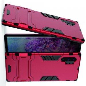 Hybrid Armor Ударопрочный чехол для Samsung Galaxy Note 10 Plus / 10+ с подставкой - Красный