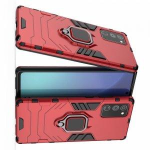 Hybrid Armor Ударопрочный чехол для Samsung Galaxy Note 20 с подставкой - Красный