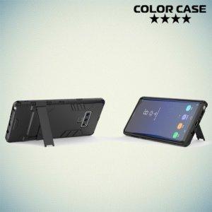 Hybrid Armor Ударопрочный чехол для Samsung Galaxy Note 9 с подставкой - Черный