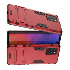 Hybrid Armor Ударопрочный чехол для Samsung Galaxy S10 Lite с подставкой - Красный