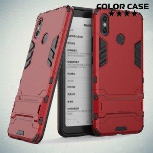 Hybrid Armor Ударопрочный чехол для Xiaomi Mi Max 3 с подставкой - Красный