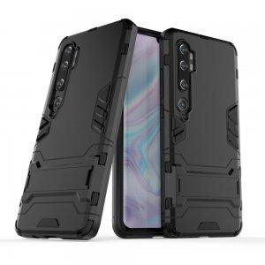 Hybrid Armor Ударопрочный чехол для Xiaomi Mi Note 10 с подставкой - Черный