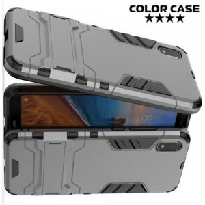 Hybrid Armor Ударопрочный чехол для Xiaomi Redmi 7A с подставкой - Серый